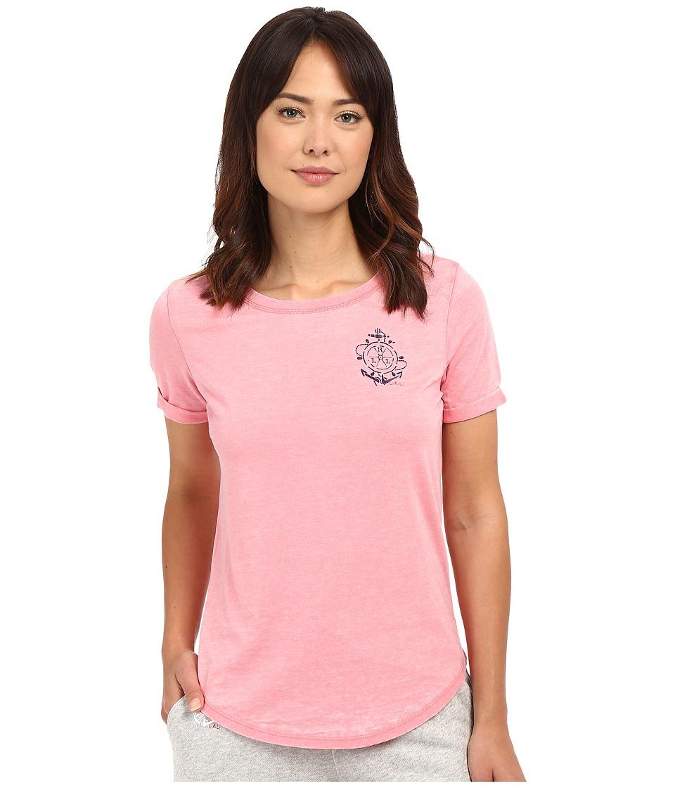 LAUREN Ralph Lauren - Short Sleeve Lounge T-Shirt (Coral) Women's Pajama