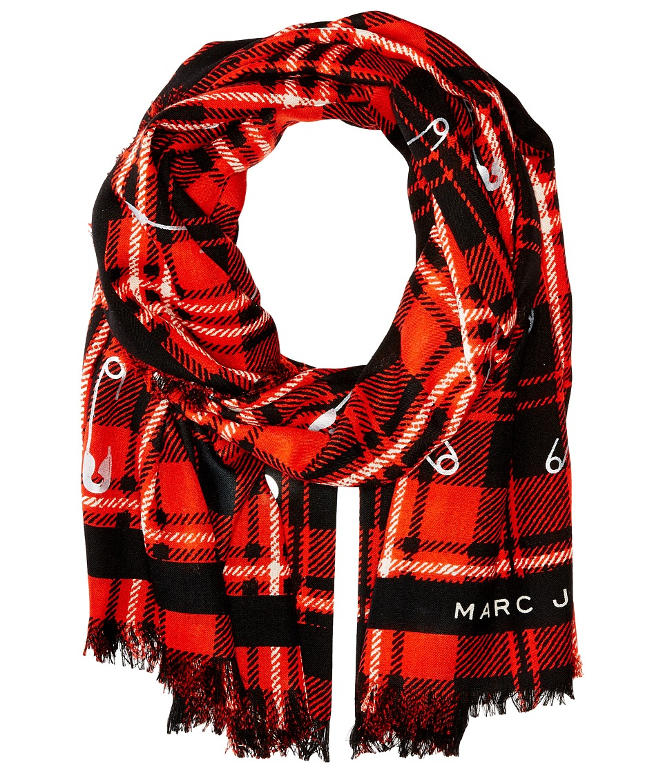 Marc Jacobs - Red Plaid Stole (Red Multi) Scarves