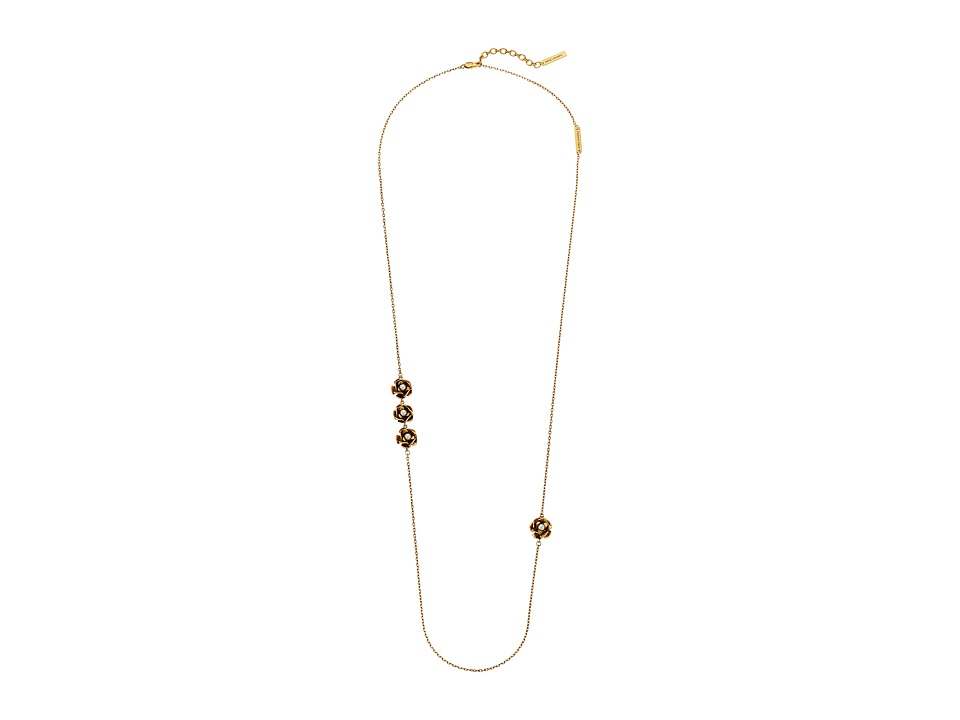 Marc Jacobs - Delicate Flower Necklace (Cream/Antique Gold) Necklace