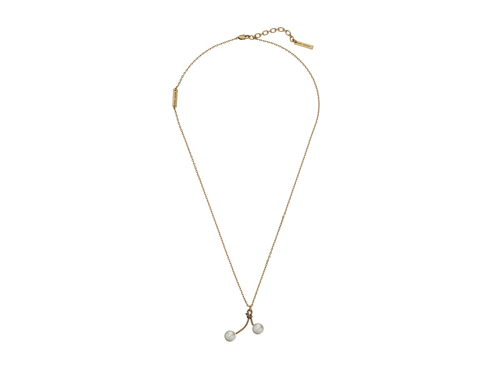 Marc Jacobs - Pearl Rope Cherry Necklace (Cream/Antique Gold) Necklace