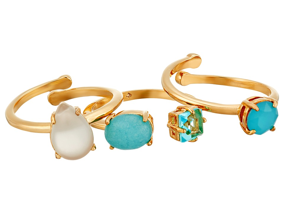 Kate Spade New York - Stack Attack Stackable Ring Set (Turquoise Multi) Ring