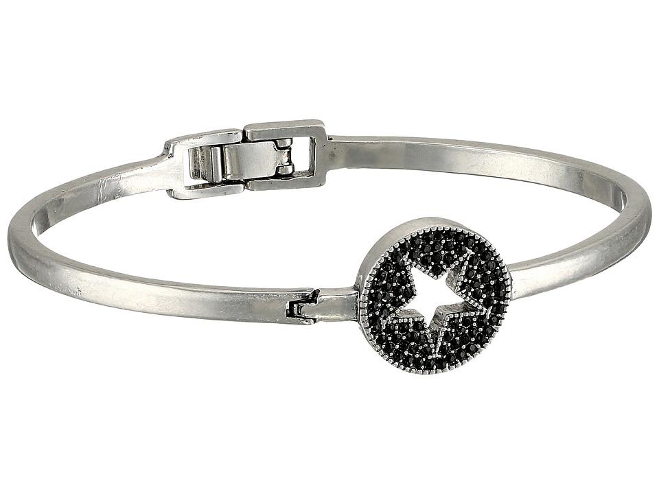 Marc Jacobs - Pave Star Delicate Cuff Bracelet (Jet/Antique Silver) Bracelet