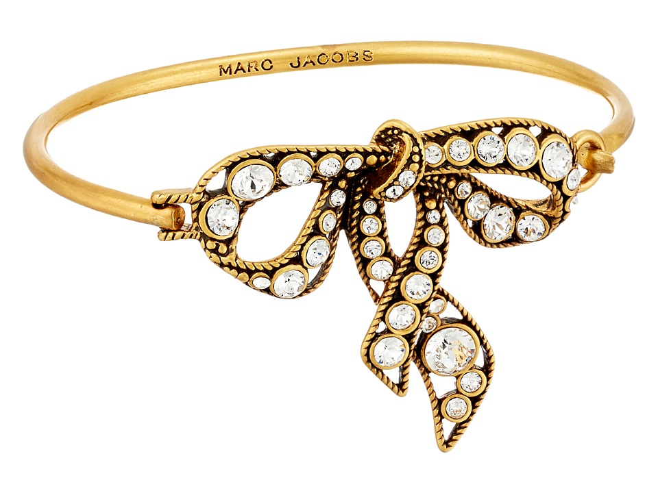 Marc Jacobs - Bow Hinge Bracelet (Crystal/Antique Gold) Bracelet