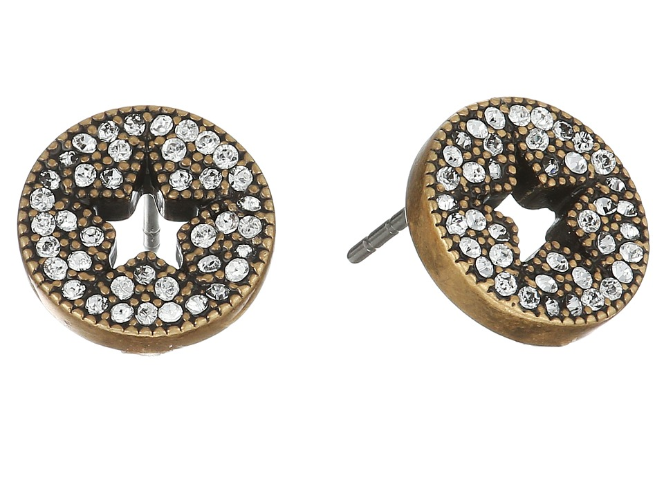Marc Jacobs - Pave Star Studs Earrings (Crystal/Antique Gold) Earring