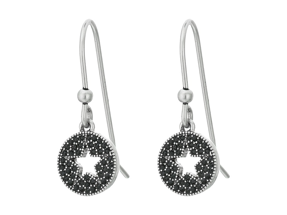 Marc Jacobs - Pave Star Earrings (Jet/Antique Silver) Earring