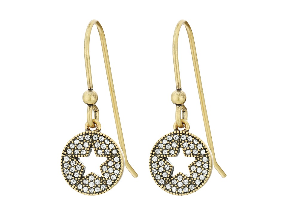 Marc Jacobs - Pave Star Earrings (Crystal/Antique Gold) Earring