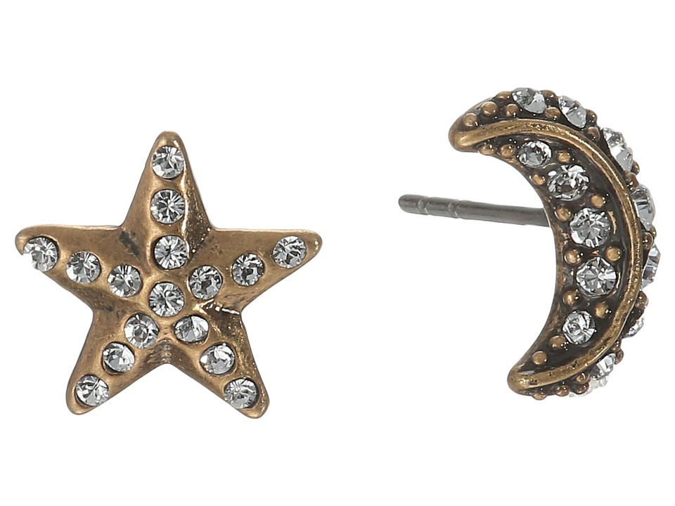 Marc Jacobs - Moon Star Studs Earrings (Crystal/Antique Gold) Earring
