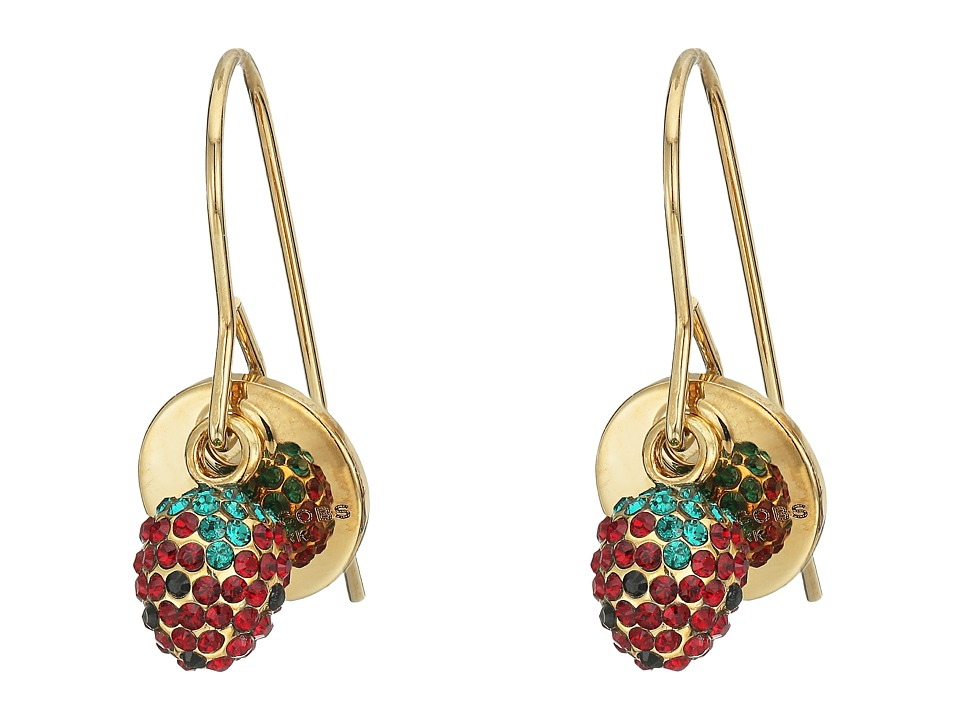 Marc Jacobs - Strawberry Drop Earrings (Gold) Earring