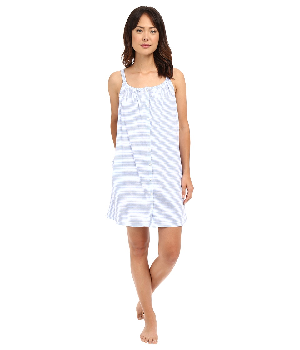 LAUREN Ralph Lauren - Tank Short Gown (Narrow Stripe Blue) Women's Pajama
