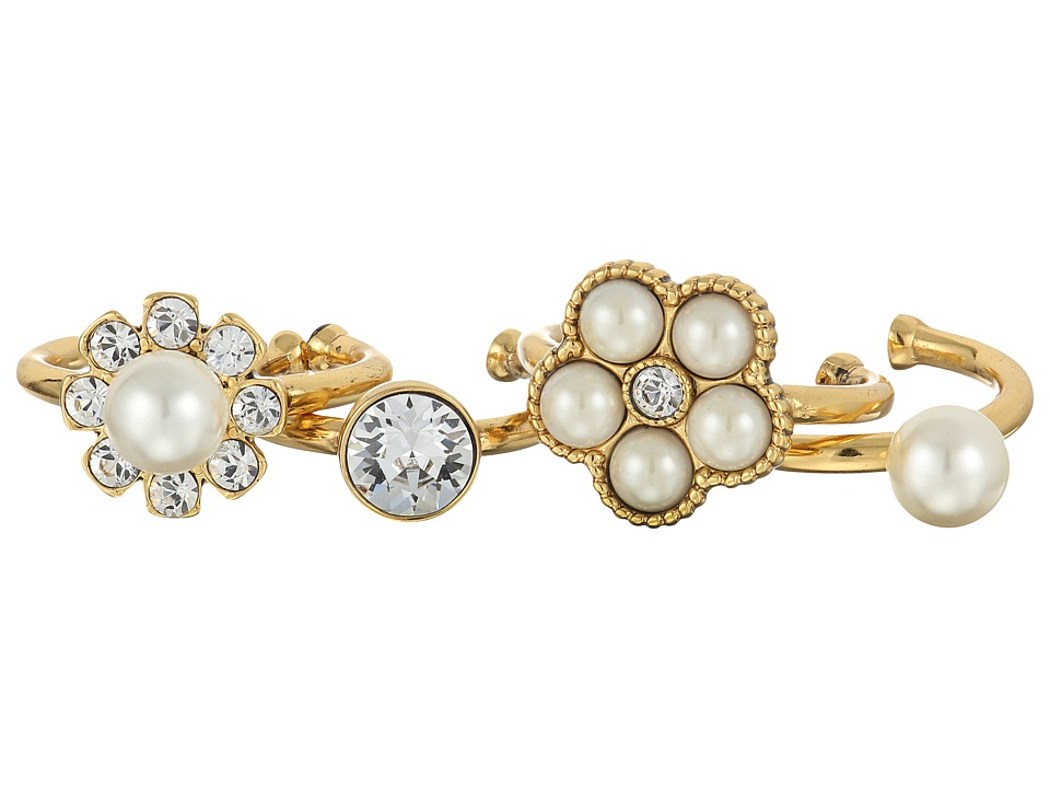 Marc Jacobs - Cabochon Midi Ring Set (Cream/Antique Gold) Ring
