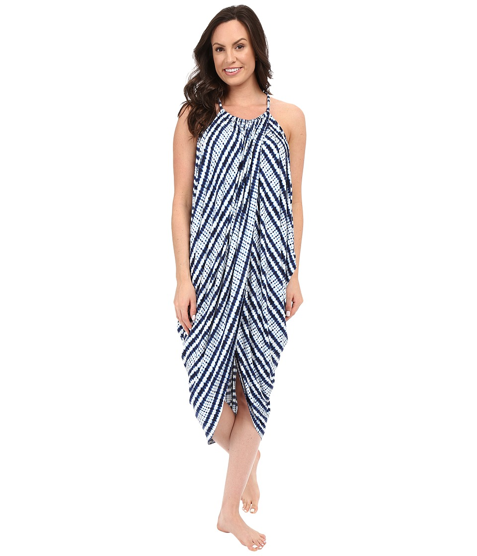 Midnight by Carole Hochman - Maxi Gown (Abstract Stripe) Women's Pajama