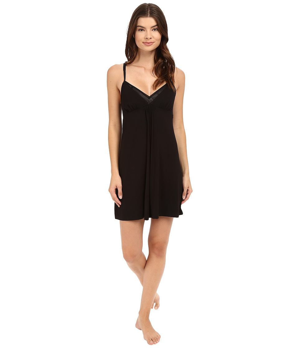 Midnight by Carole Hochman - Strappy Chemise (Black) Women's Pajama