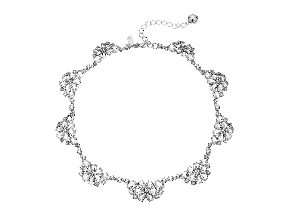 Kate Spade New York - Be Adorned Scallop Necklace (Clear/Silver) Necklace