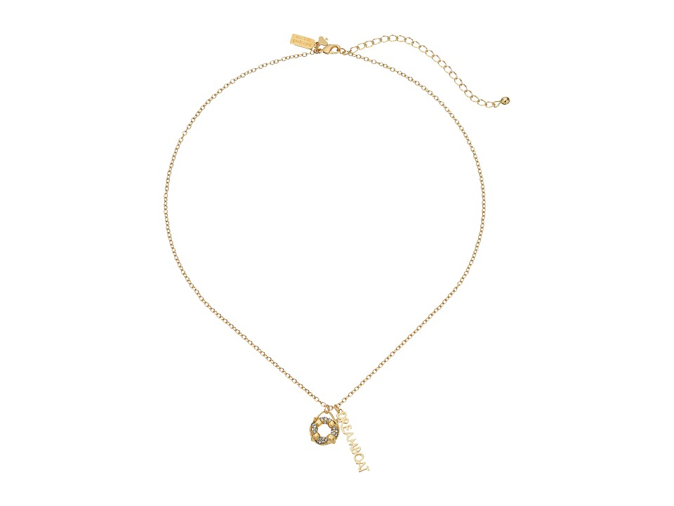 Kate Spade New York - Kiss A Prince Dreamboat Necklace (Clear/Gold) Necklace