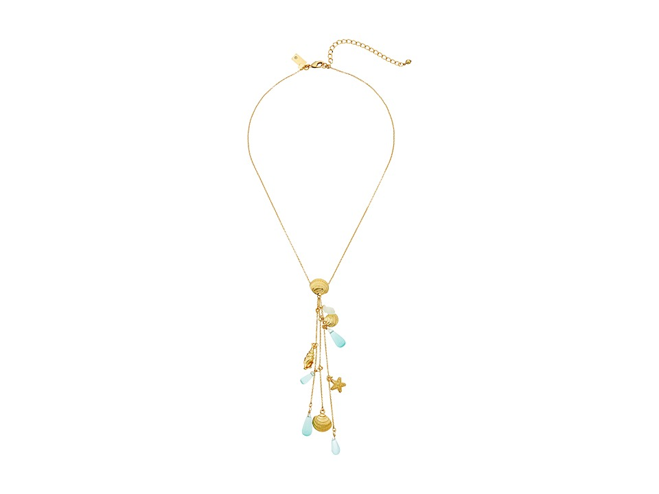 Kate Spade New York - Subtle Sparkle Y Necklace (Turquoise Multi) Necklace