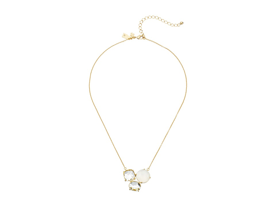 Kate Spade New York - Sun Kissed Sparkle Mini Pendant (Clear Multi) Necklace