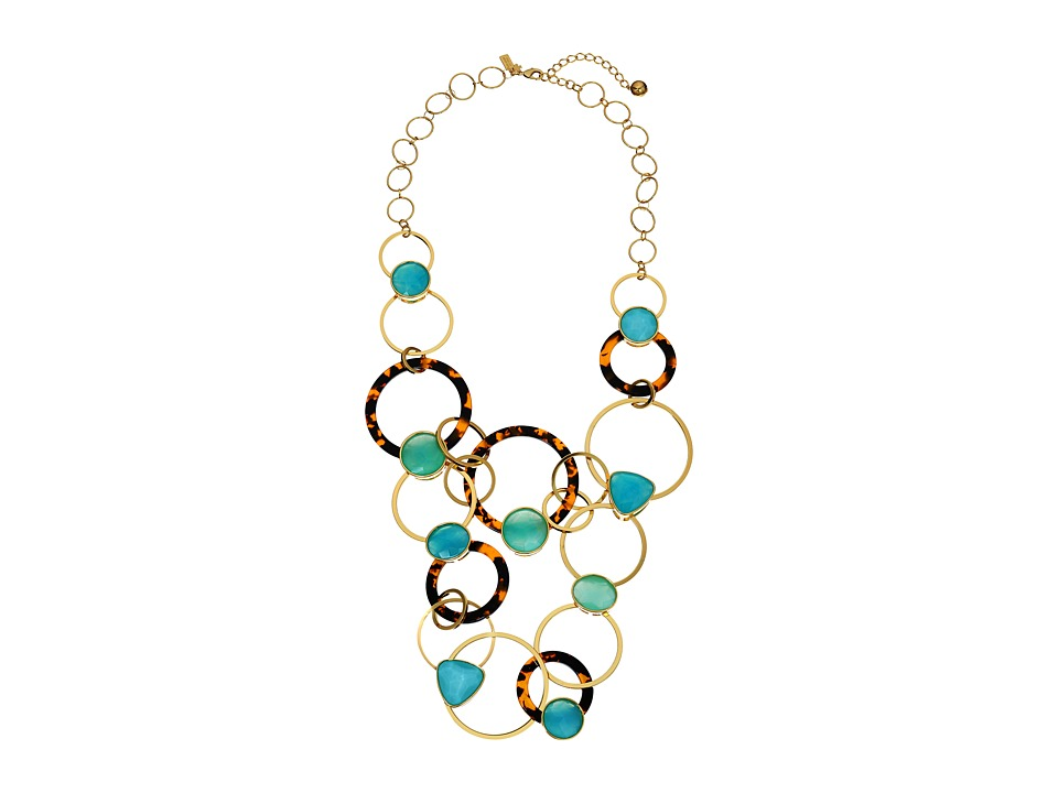 Kate Spade New York - Sun Kissed Sparkle Statement Necklace (Turquoise Multi) Necklace