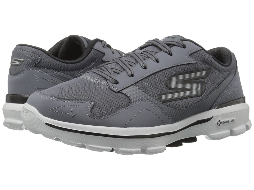 SKECHERS Performance - Go Walk 3 - Creator (Charcoal/Black) Men's Lace up casual Shoes