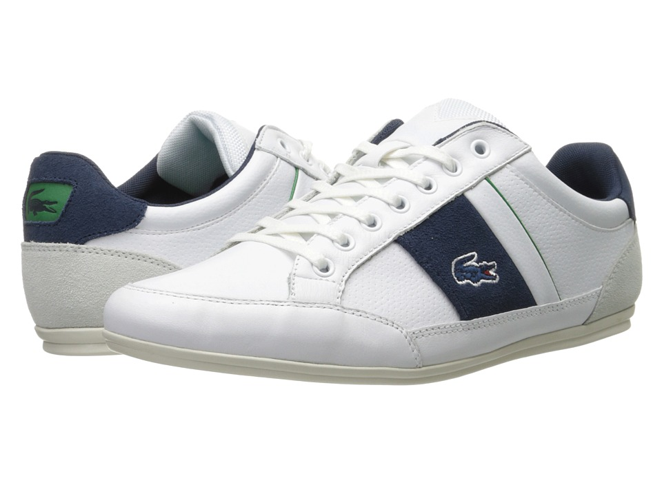 Lacoste Chaymon 216 1 (White/Navy) Men
