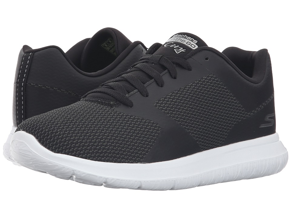 SKECHERS Performance Go Walk City Echo (Black/White) Men