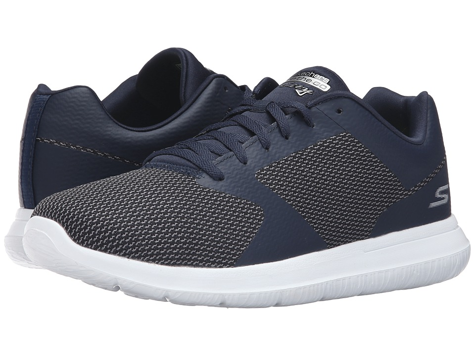 SKECHERS Performance Go Walk City Echo (Navy/White) Men