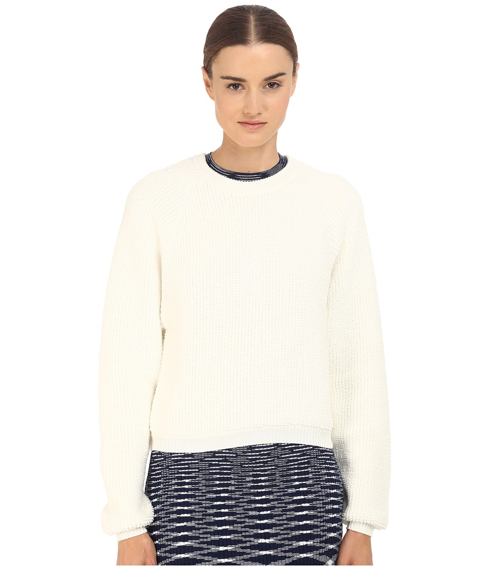 See by Chloe - Knit Pullover with Back Zipper (Off-White) Women's Long Sleeve Pullover