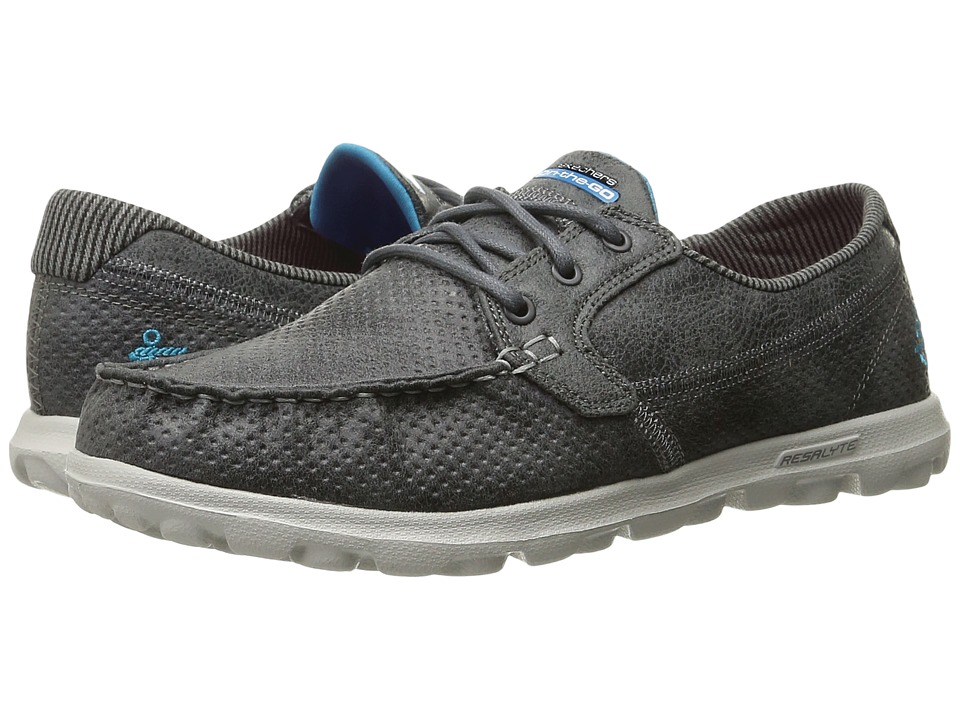 SKECHERS Performance - On The Go - Tide (Charcoal) Women's Lace up casual Shoes