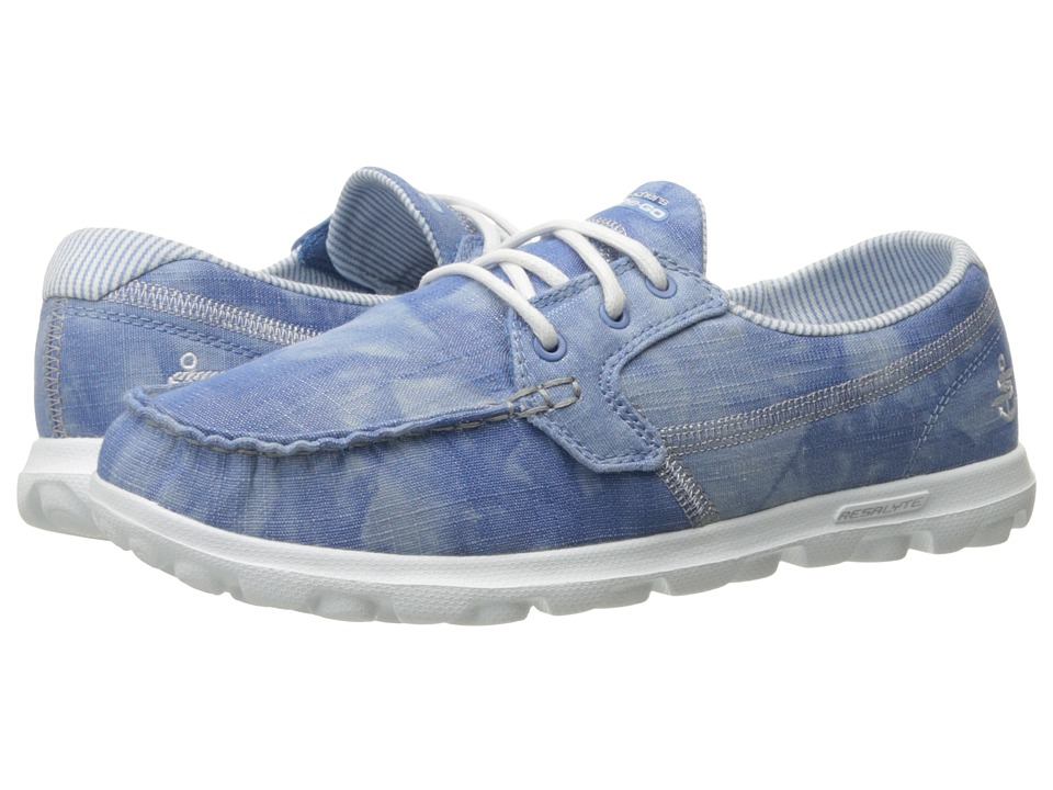 SKECHERS Performance - On-The-Go - Castaway (Light Denim) Women's Lace up casual Shoes