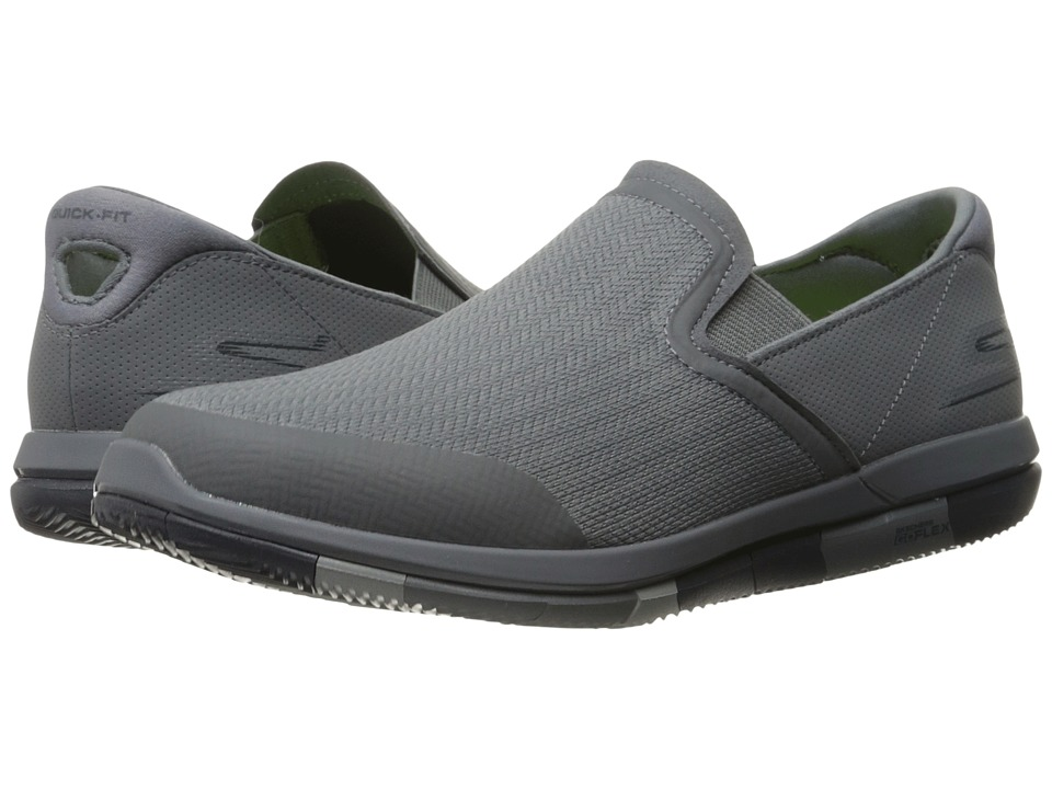 SKECHERS Performance - Go Flex (Charcoal/Navy) Men's Slip on Shoes