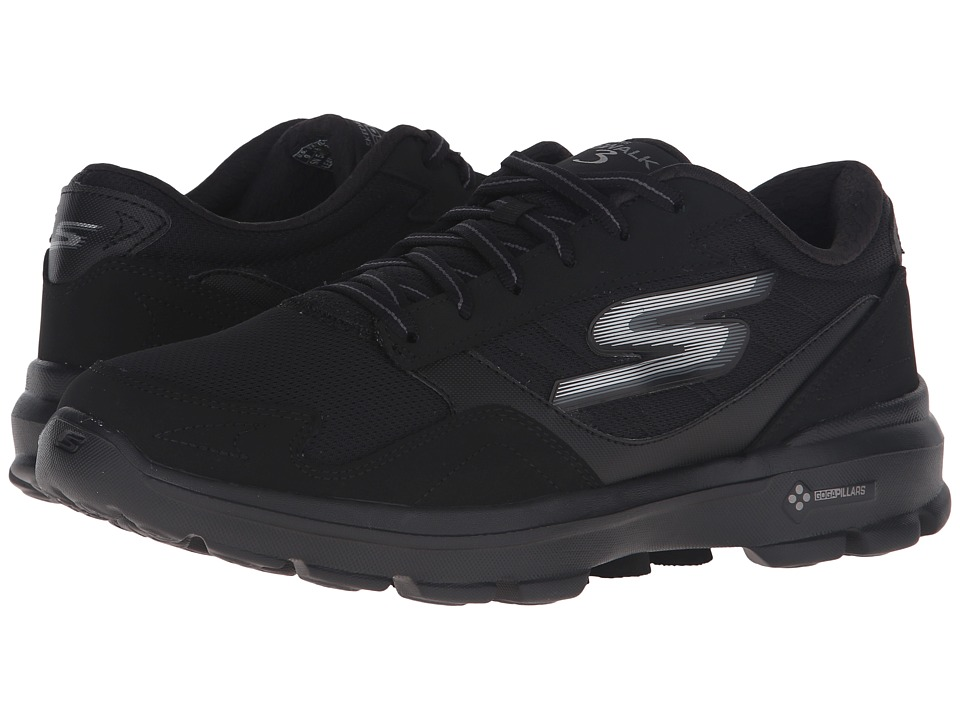 SKECHERS Performance - Go Walk 3 - Creator (Black) Men's Lace up casual Shoes