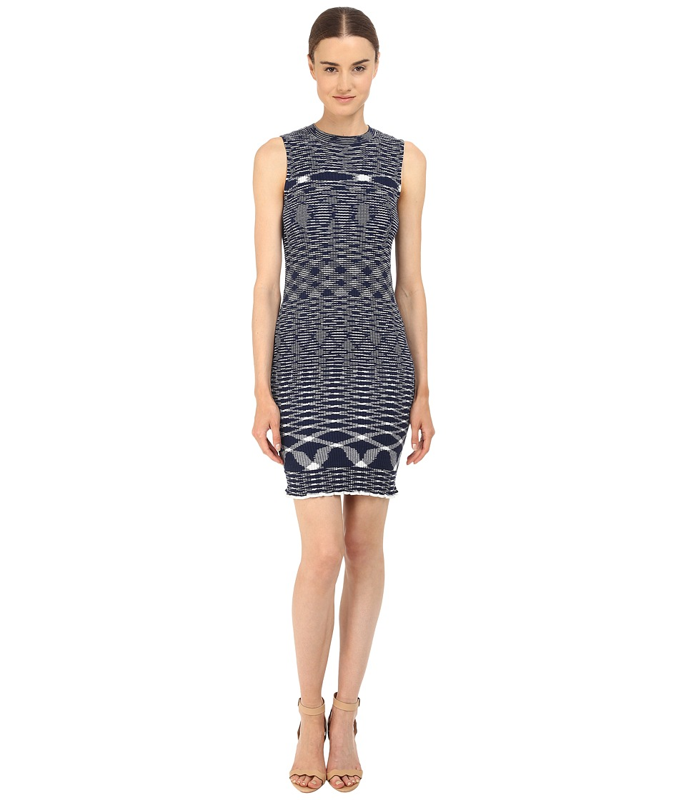 See by Chloe - Light Space Dyed Knit Dress (True Blue) Women's Dress