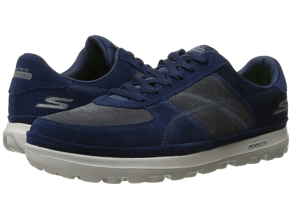 SKECHERS Performance On-The-Go Enhance (Navy/Gray) Men