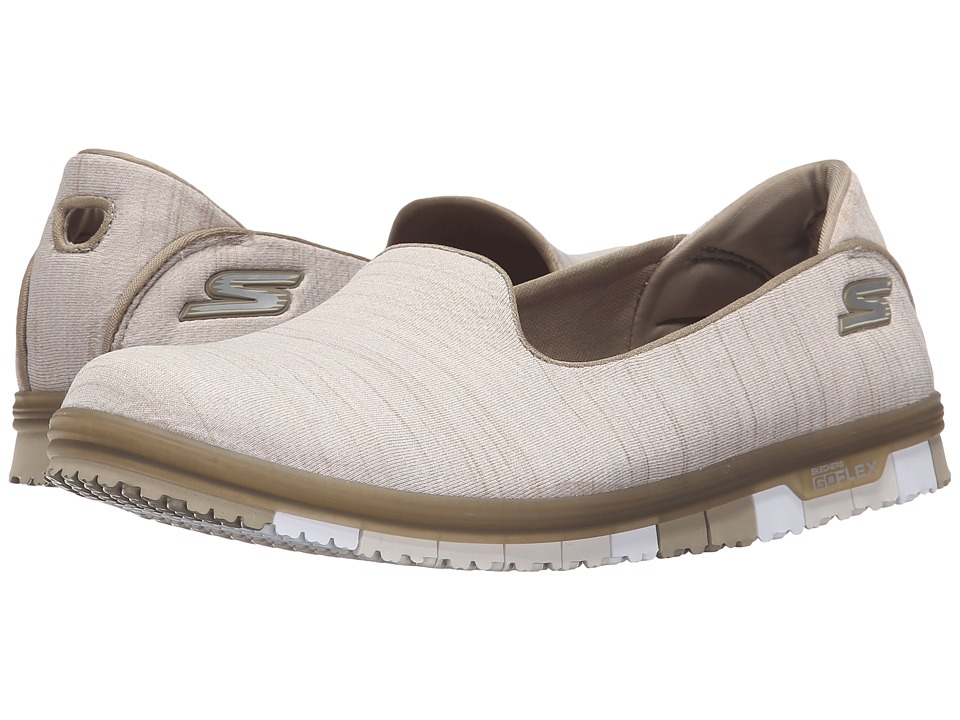 SKECHERS Performance - Go Mini Flex (Taupe) Women's Slip on Shoes