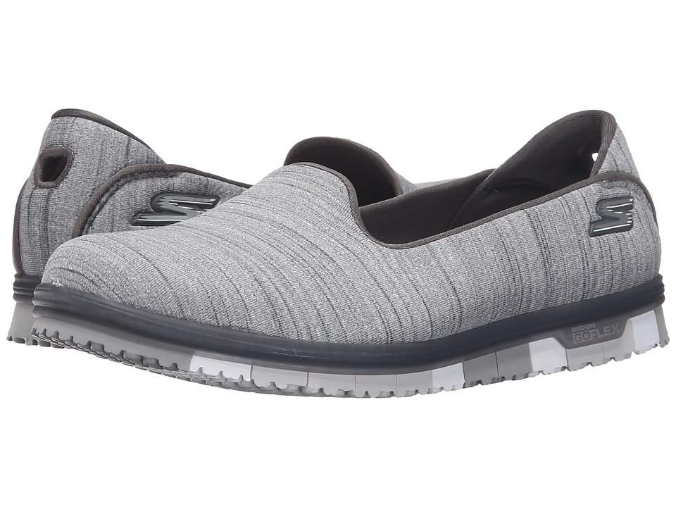 SKECHERS Performance - Go Mini Flex (Gray) Women's Slip on Shoes