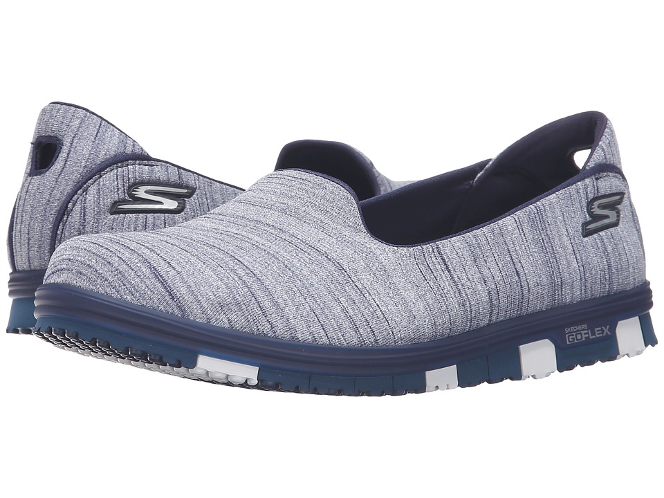 SKECHERS Performance - Go Mini Flex (Navy) Women's Slip on Shoes