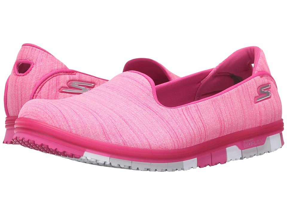 SKECHERS Performance - Go Mini Flex (Hot Pink) Women's Slip on Shoes