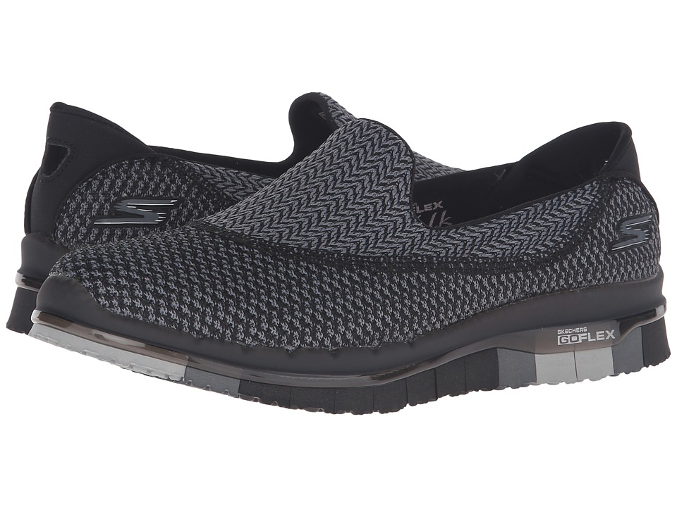 SKECHERS Performance - Go Flex (Black/Gray) Women's Shoes