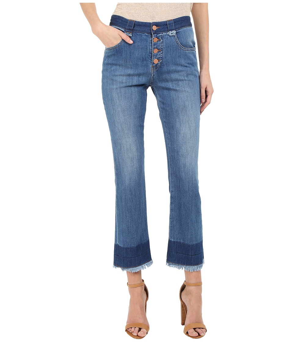See by Chloe - Stoned Denim Frayed Edge Jeans (Washed Indigo) Women's Jeans