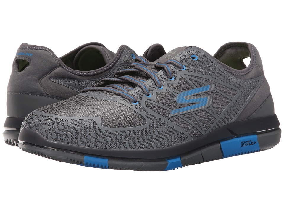SKECHERS Performance Go Flex (Charcoal/Blue) Men