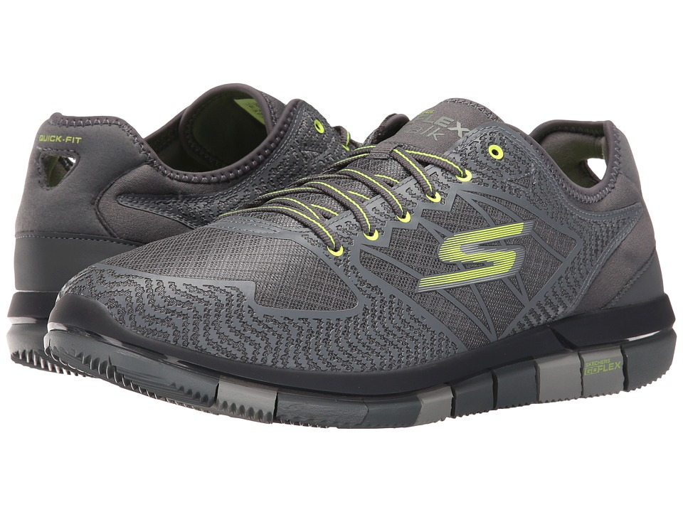 SKECHERS Performance Go Flex (Charcoal/Lime) Men