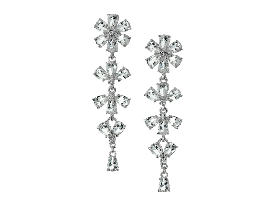 Kate Spade New York - Crystal Arches Linear Earrings (Clear/Silver) Earring