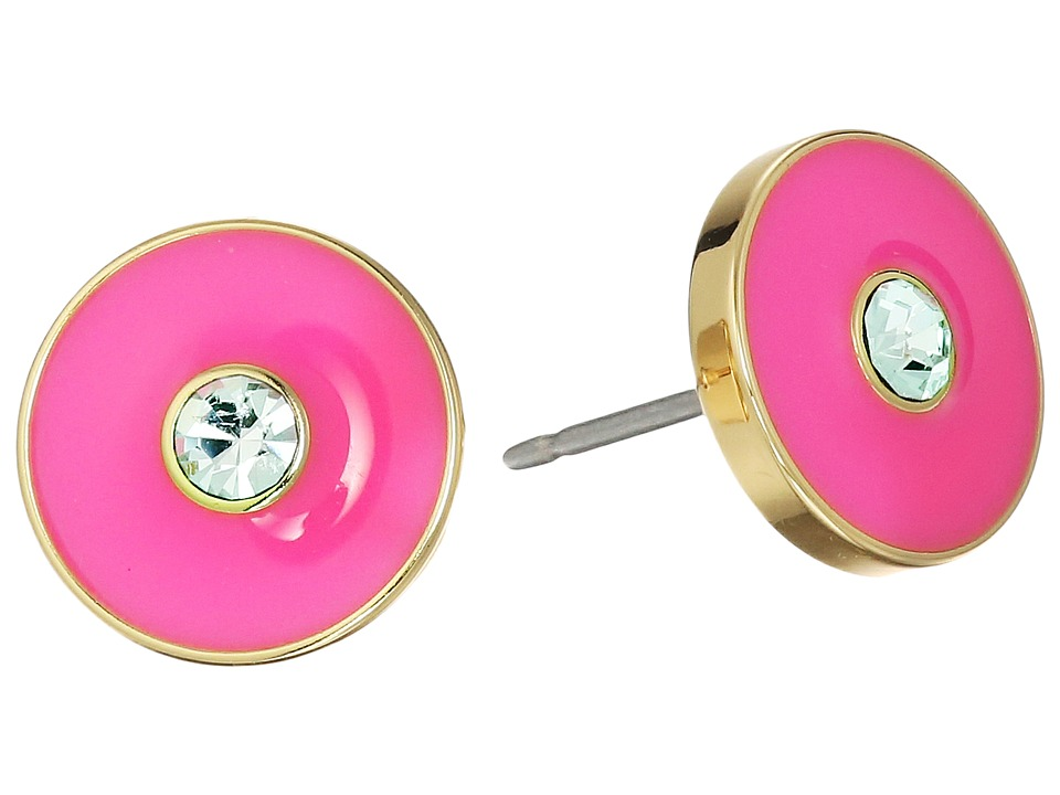 Kate Spade New York - Lady Marmalade Studs (Clear/Flo Pink) Earring