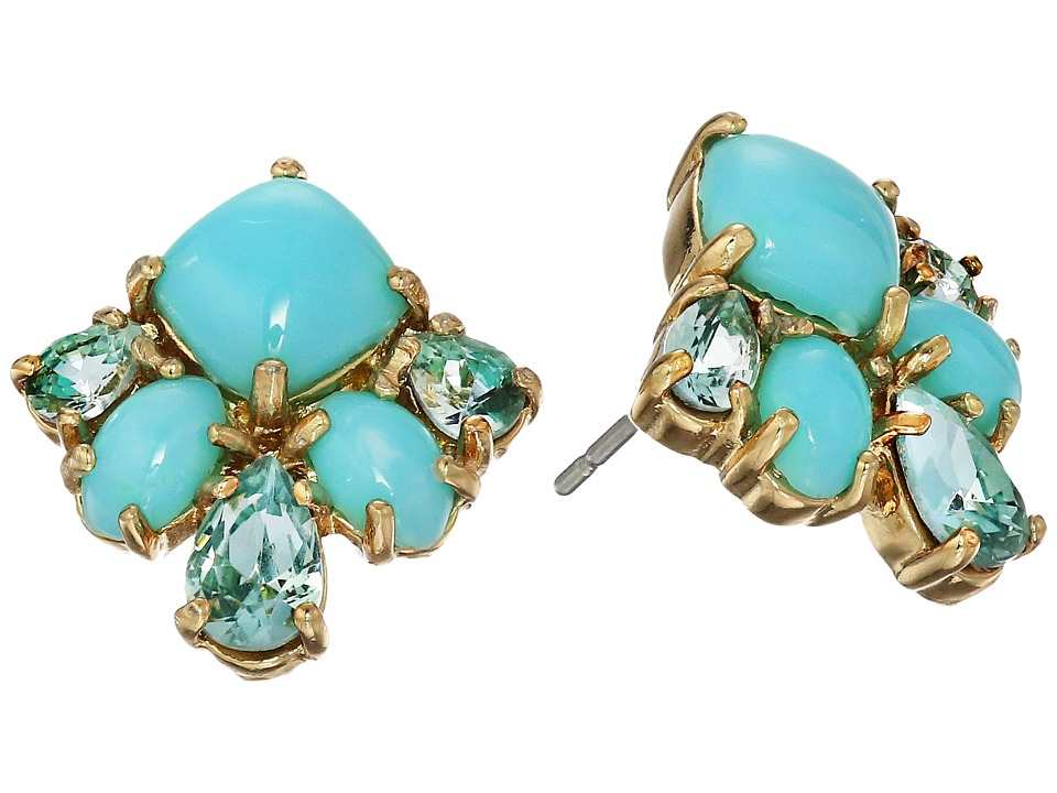 Kate Spade New York - Cluster Studs Earrings (Turquoise Multi) Earring