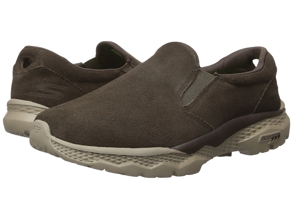 SKECHERS Performance - Go Walk Outdoor (Chocolate) Men's Slip on Shoes