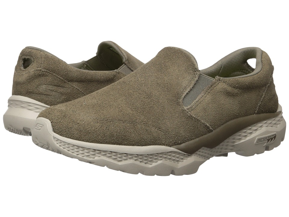 SKECHERS Performance - Go Walk Outdoor (Khaki) Men's Slip on Shoes