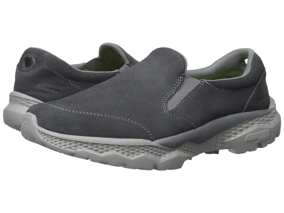 SKECHERS Performance - Go Walk Outdoor (Charcoal) Men's Slip on Shoes