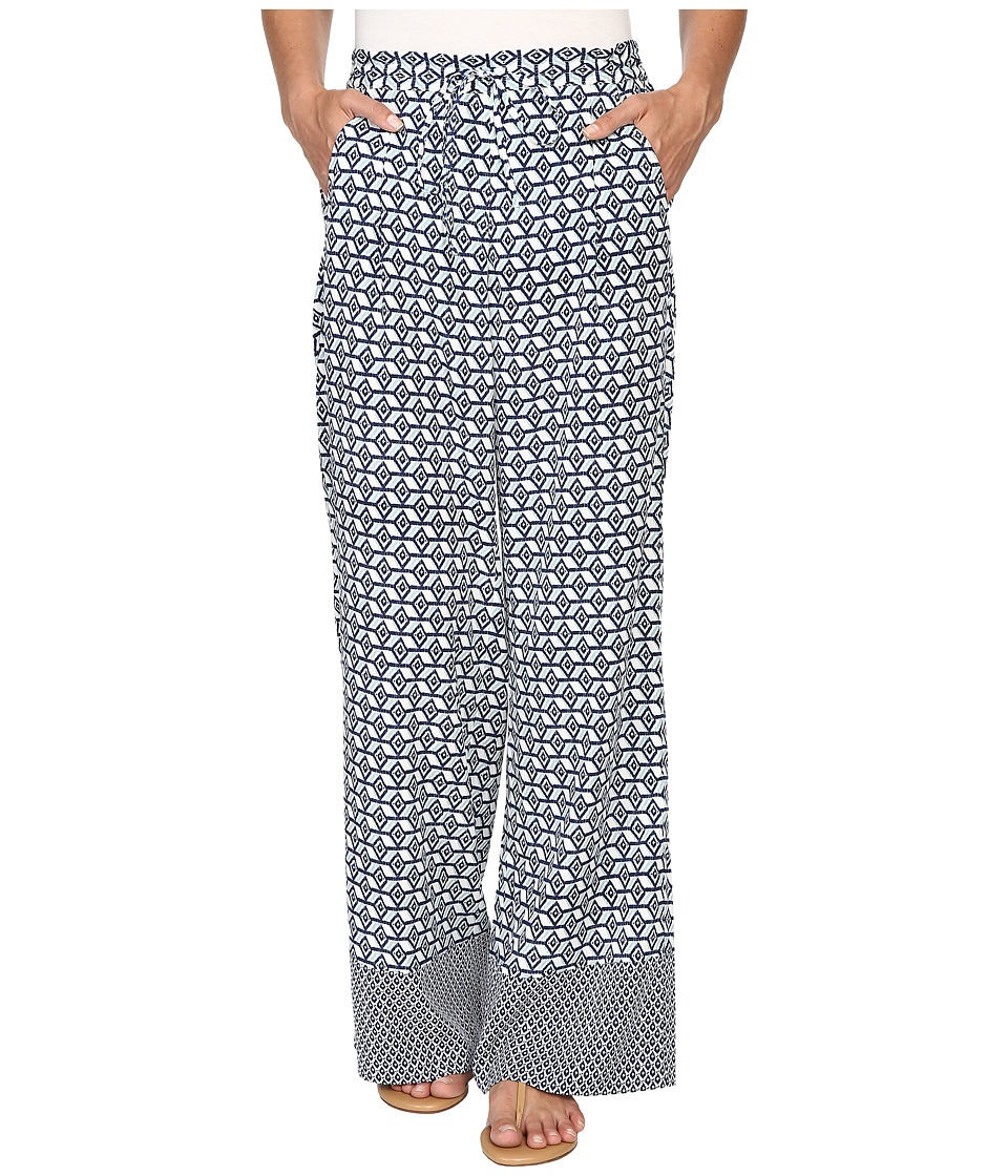NYDJ - Palazzo Pants (Empire Geo Champion Navy) Women's Casual Pants