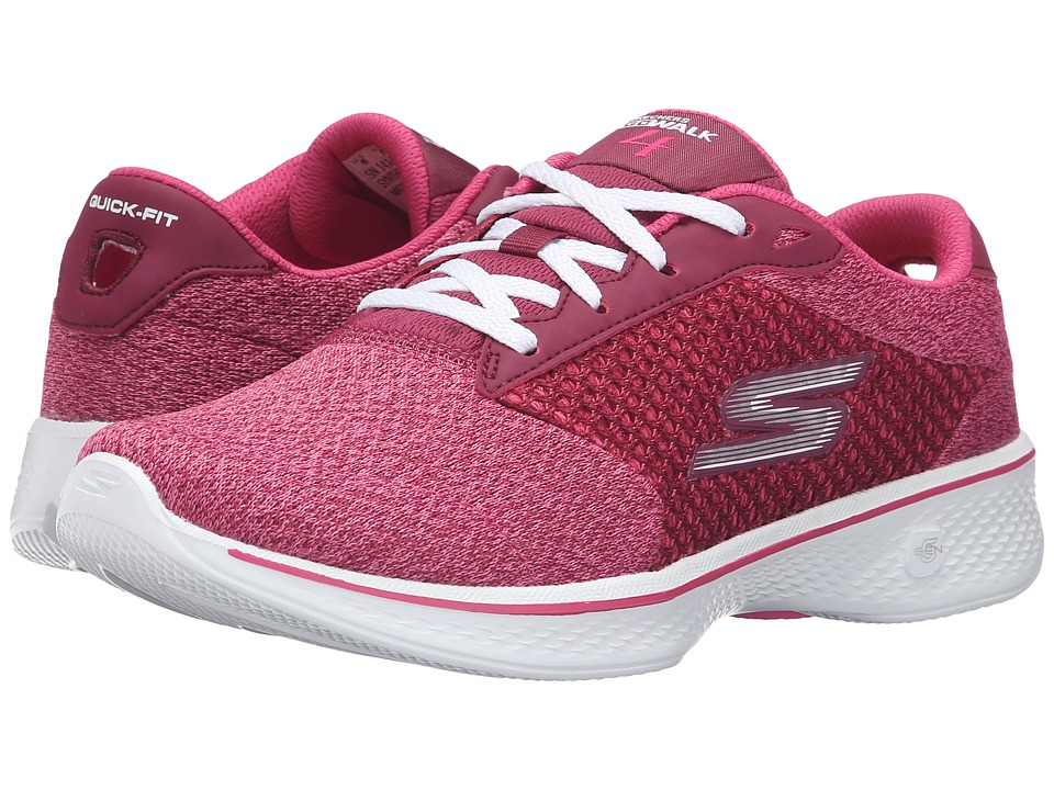 SKECHERS Performance - Go Walk 4 - Exceed (Raspberry) Women's Lace up casual Shoes
