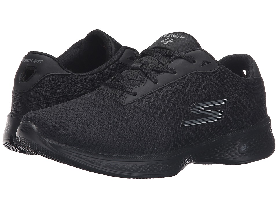 SKECHERS Performance - Go Walk 4 - Exceed (Black) Women's Lace up casual Shoes
