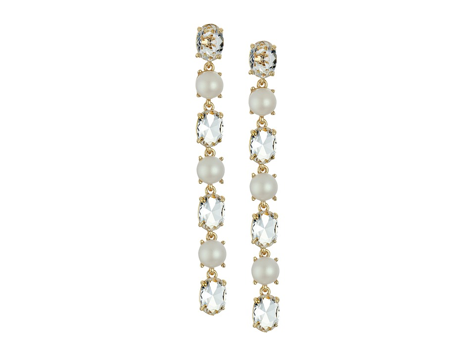 Kate Spade New York - Crystal Arches Linear Earrings (Clear Multi 1) Earring